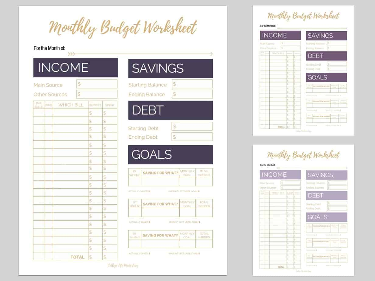 Superb Budget Tracker Printable