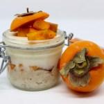 Crema pasticciera con porridge e caco