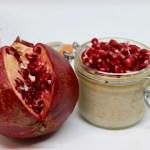 Porridge alla vaniglia e melograno