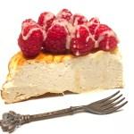 Cheesecake proteica ai lamponi