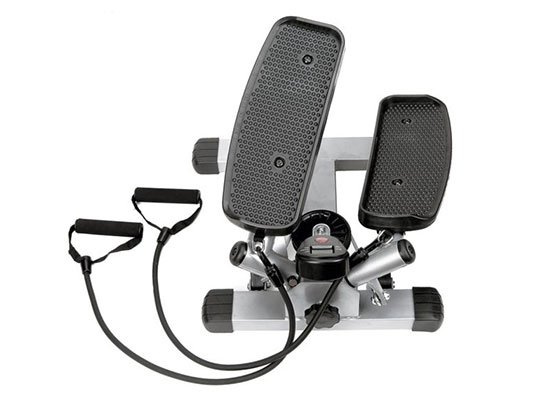 Twist Stepper with Resistance Bands by Sunny Health & Fitness