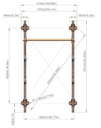 T-3 Squat Rack Specifications
