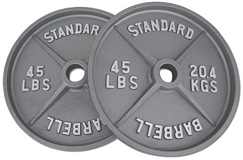 Pair 45 Lb Wide Flange Weight Plates Fitness Destination