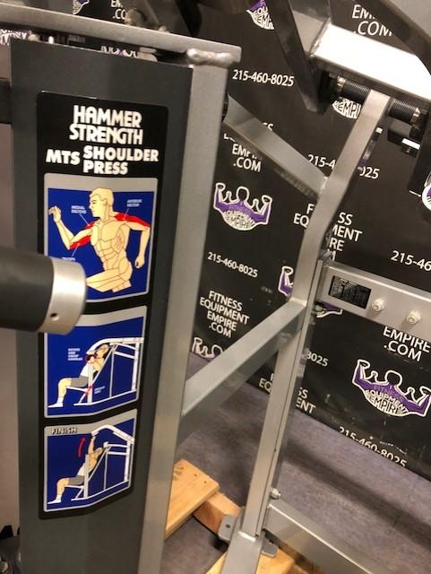 Buy Hammer Strength Mts Iso Lateral Shoulder Press Online