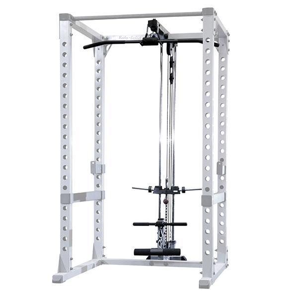 body solid power rack lat attachment gla378