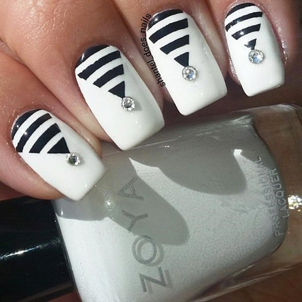Geometric Nail Art Design