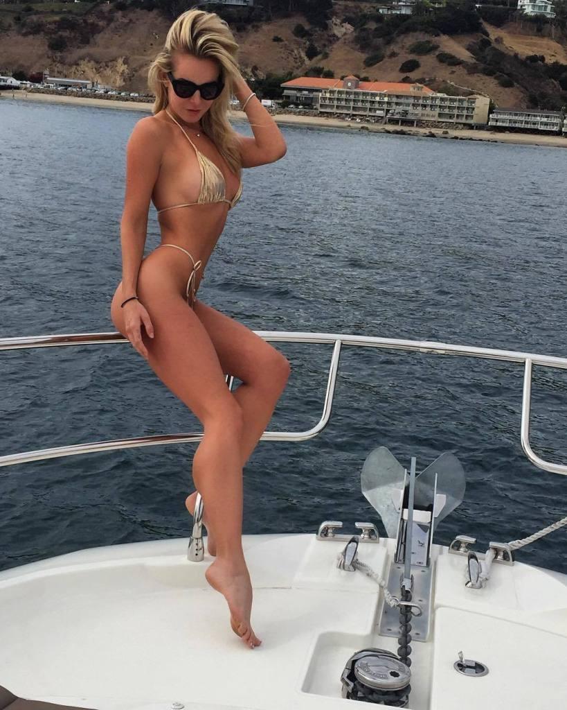 Savannah Lynx on a boat