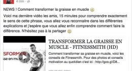 Les amis une nouvelle video est disponible , allez la voir sur ma page Facebook : FITNESSMITH