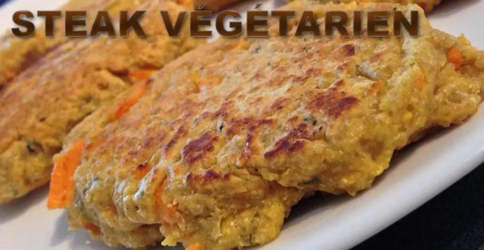 Steak végétarien sans gluten et sans lactose