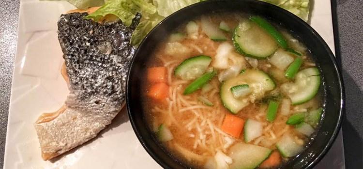 Recette fitness : soupe miso protéinée et sans gluten