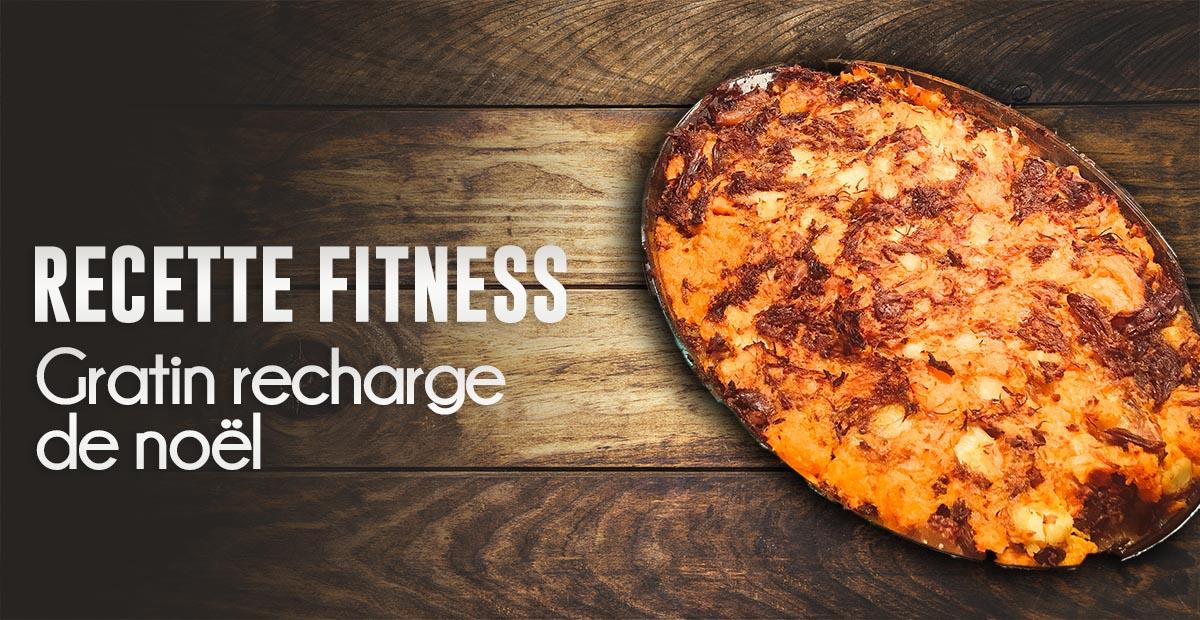 Gratin fitness de noël : patate douce, canard, pomme de terre