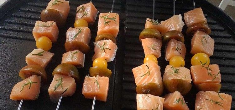 Recette fitness de brochettes de saumon pour garder la ligne