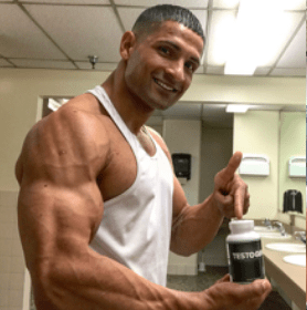 Bodybuilder using Testogen testosterone booster