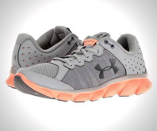 Under-Armour-Womens-Micro-G-Assert-6-Running-Shoes-Orange-Rhino-Gray