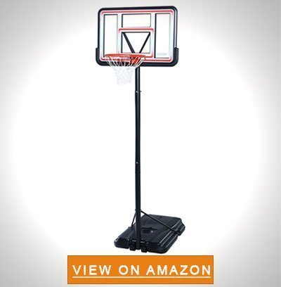 Lifetime 1269 Pro Court Height Adjustable Portable Basketball System 44 Inch Backboard - Best Portable Basketball Hoop To Buy: Top 10 Reviews in 2020