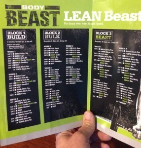 The Lean Beast Workout Calendar Schedule for the Body Beast ...