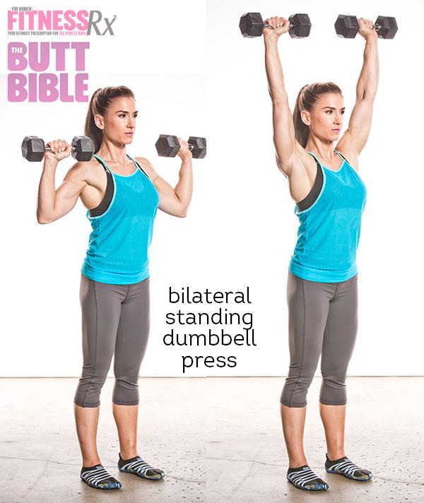 Pauline Nordin's Metabolic Booster Workout - Bilateral Standing Dumbbell Press