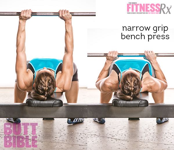 Pauline Nordin's Metabolic Booster Workout - Narrow Grip Bench Press