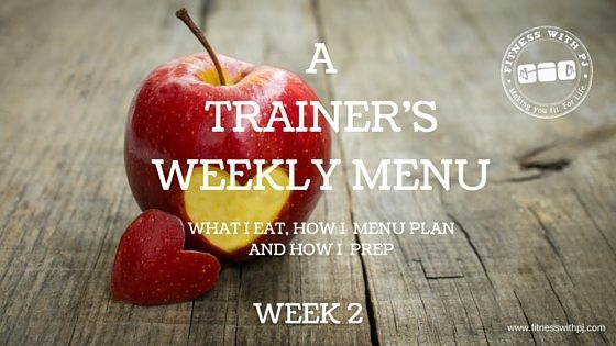 A Trainer's Weekly Menu – Week 2