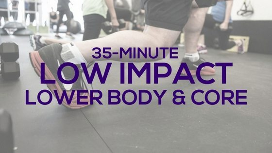 Low Impact Lower Body and Core Workout