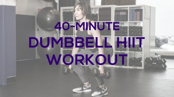 40-Minute Dumbbell HIIT Cardio