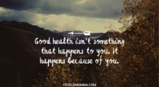 image of quote Good health happens because of you