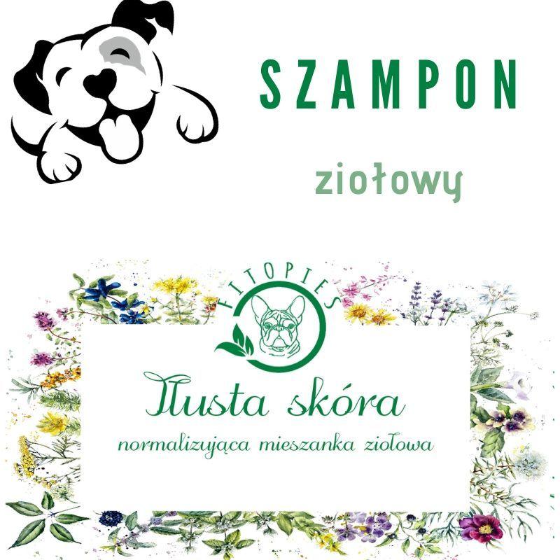ziołowy szampon dla psa z tłustą skórą