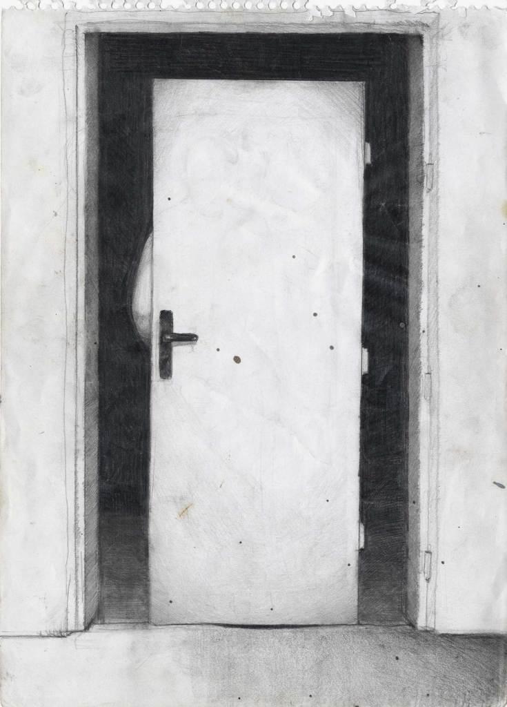 Doorframe, 29,7x21, pencil on paper, 2010 © Rastislav Podhorský