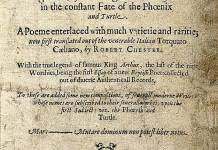 Shakespeare's poem The Phoenix and the Turtle was first published in Robert Chester's Loves Martyr (1601)