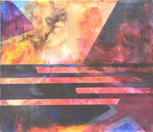 Clisura Dunării, Lena Lhvicia, 60 x 70 cm, oil on canvas, 2019