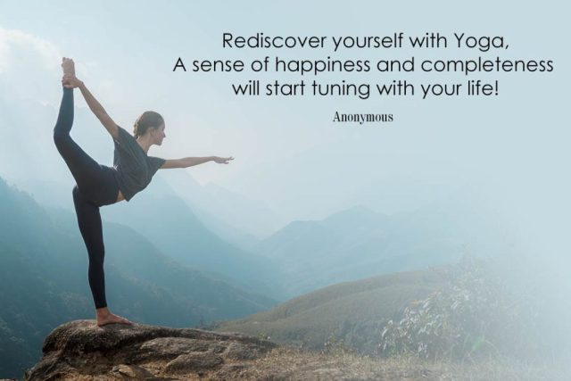 Happiness Yoga Quote - Rediscover yourself with Yoga