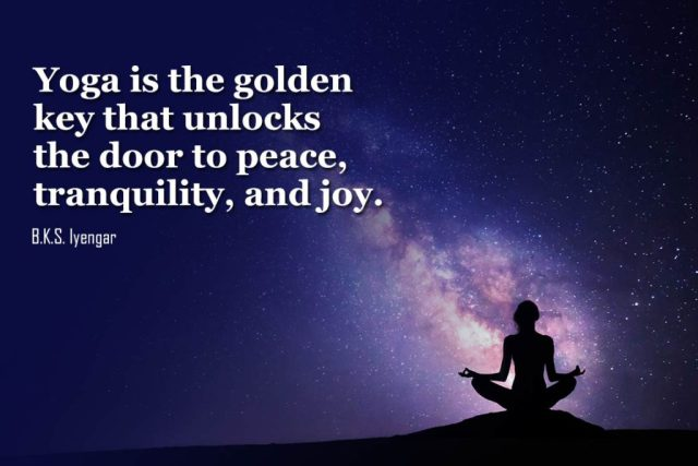 Happiness Yoga Quote - Yoga is the golden