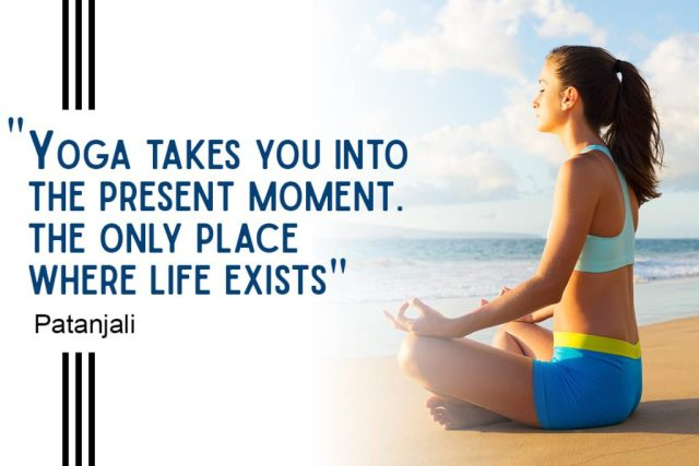 Inspirational Yoga Quote - Yoga takes you into the