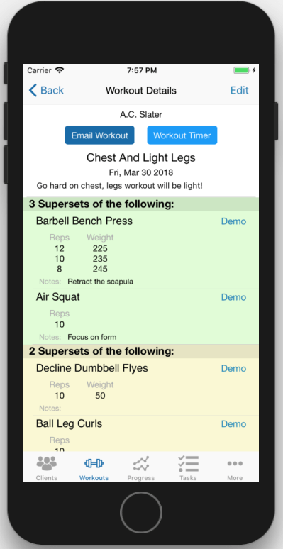 Workout Timer App Personal Trainer Click Button