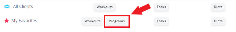 where to find new workout program feature