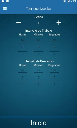 Spanish personal trainer app screenshot