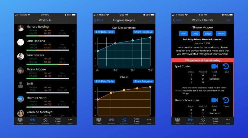 FitSW Personal Trainer App - Dark Mode Updates For iOS