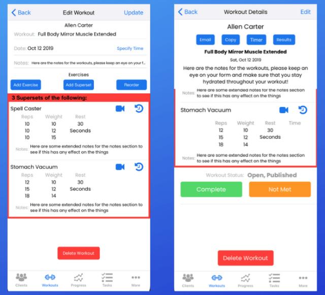 personal trainer iOS app