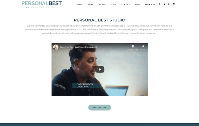 PersonalBest - Online Personal Trainers About Page Example