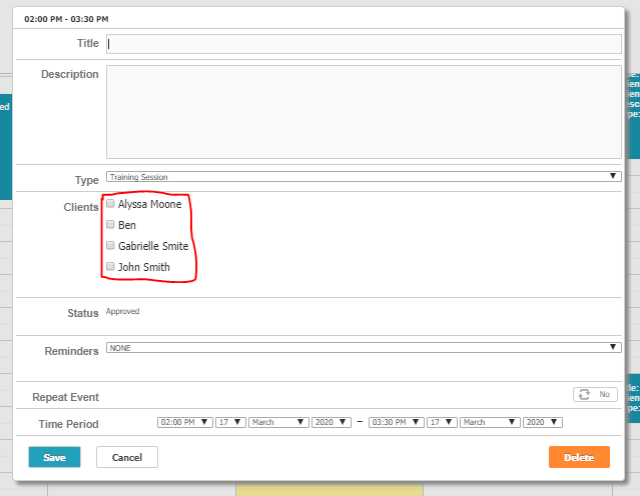 Group Scheduling & Autocomplete: Sample image of the new Group Scheduling Feature.