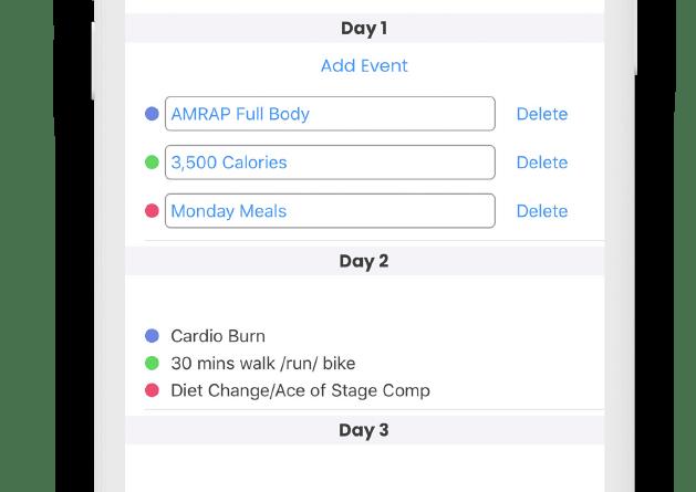 Programs on iOS FitSW Fitness Software