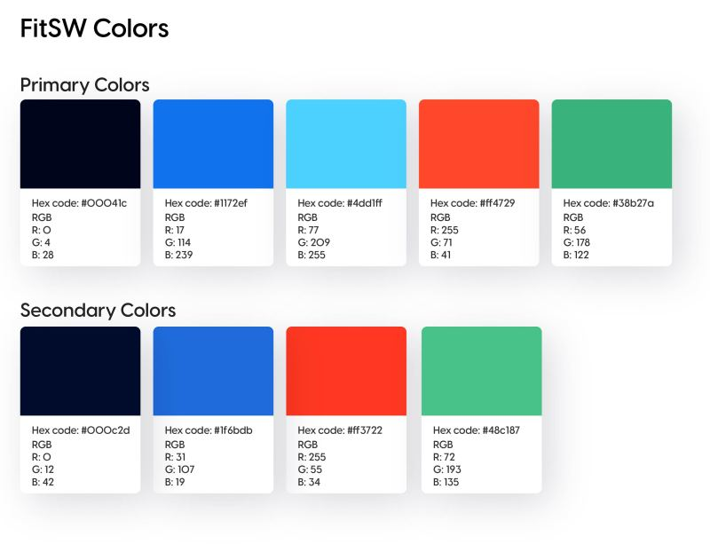 Set up your brand colors - FitSW Fitness Software Brand Colors