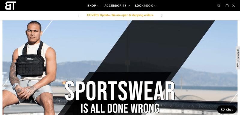 Born Tough has stylish athletic wear for men.