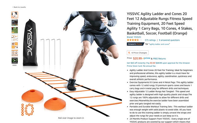 Personal training costs - Agility kit