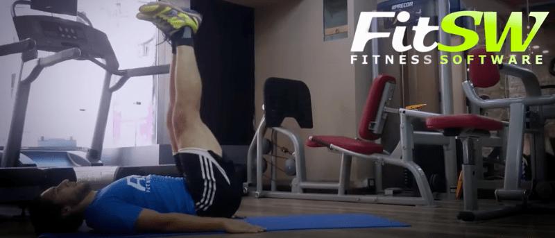 One Punch Man Workout - core leg raises