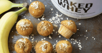 Nutrition Tips - Bananas, Muffins, and Naked Nutrition Whey Protein