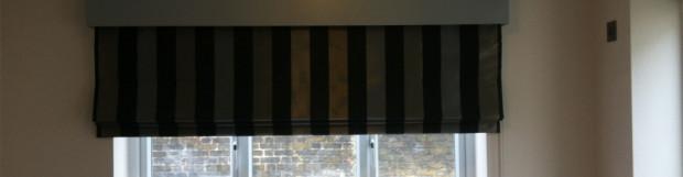 Wooden Pelmet and Roman Blind Fitted in Uxbridge