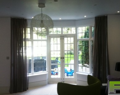 Silent gliss track 3840 and a  cartridge pleat curtain fitted in North Finchley
