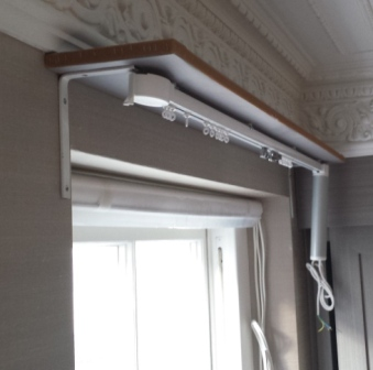 Electric Track and Roller Blind