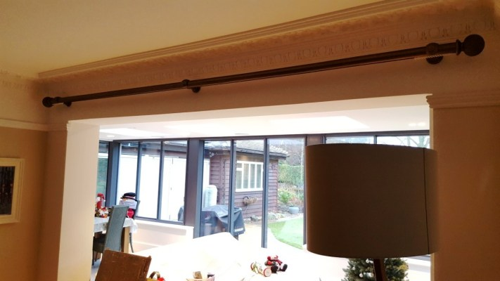 50mm curtain pole